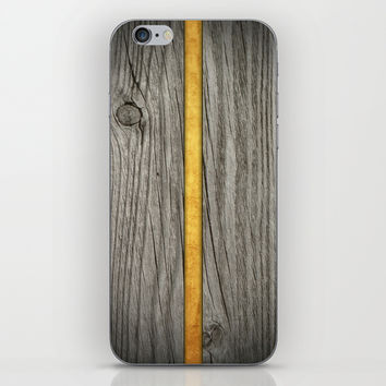 Cutted wood and gold iPhone & iPod Skin by Julius Marc