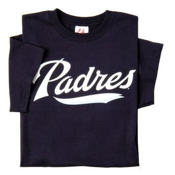 San Diego Padres (YOUTH LARGE) 100% Cotton Crewneck MLB Officially Licensed Majestic M