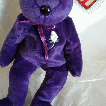 Ty Beanie Baby Princess Bear Tag Error Rare
