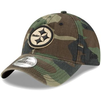 Men's New Era Woodland Camo Pittsburgh Steelers Core Classic 9TWENTY Adjustable Hat