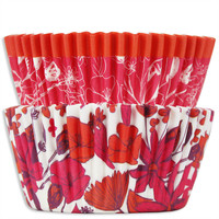 Pink & Orange Floral Baking Cups