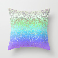 Glitter Star Dust G242 Throw Pillow by MedusArt