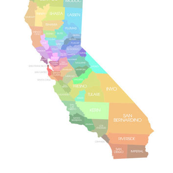 California State Map - Custom Print