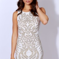 Sequence Of Events Bodycon White/Gold