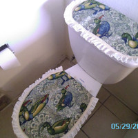 Ducks - Toilet/Tank Cover - Green - Ready to Ship