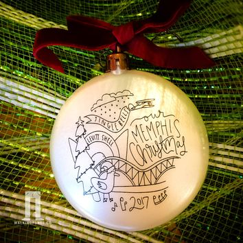 Memphis Holiday Christmas Ornament