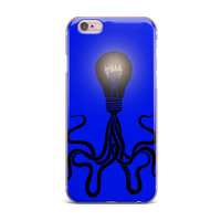 "BarmalisiRTB ""Octopus Bulb"" Blue Tentacles iPhone Case"