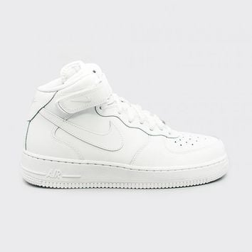 spbest NIKE - Boy - GS Air Force 1 Mid - White Mono