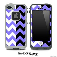 Two Toned Chevron Pattern Light Purple Skin for the iPhone 5 or 4/4s LifeProof Case