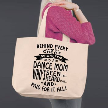 Dance Mom | Mother Gift | Personalized Canvas Tote Bag