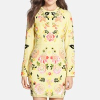 Women's Needle & Thread 'Summer Garden' Floral Sequin Body-Con Dress,