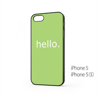 Simple Hello Message iPhone 5 / 5s Case