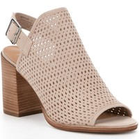 Steve Madden Neptune Perforated Peep-Toe Block Heel Shooties | Dillards