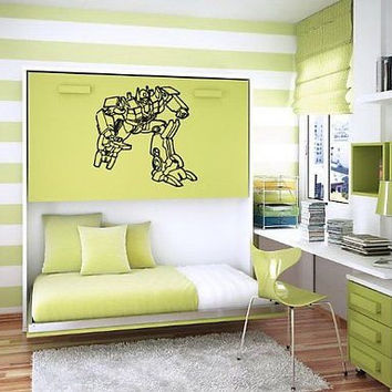 TRANSFORMERS WALL ART STICKER BABY ROOM NURSERY B400