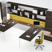 Multiple office workstation WORKWALL ASTERISCO IN Estel Office Line by ESTEL GROUP | design Alberto Stella
