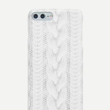 3D Cable Knit iPhone Case