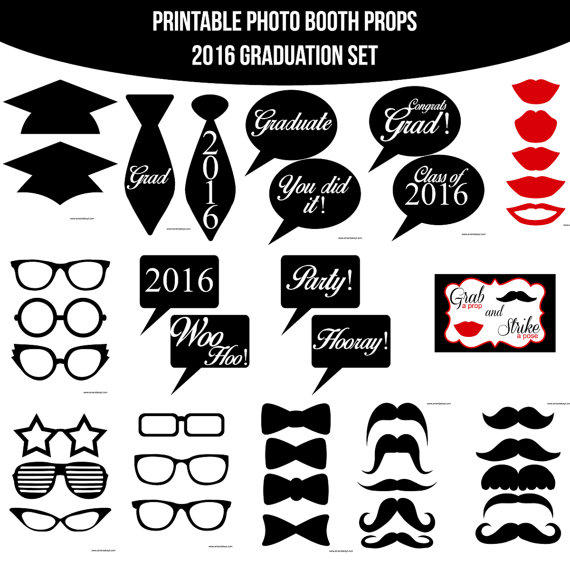 photo regarding Graduation Photo Booth Props Printable identify Prompt Down load Commencement Graduate Grad Cl of 2016 Higher education Printable Picture Booth Props Photobooth Props Sbooking Die Minimize Do it yourself