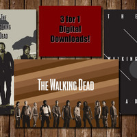 Boxing Day Walking Dead Poster Deal! 3 for 1 Digital Downloads for easy Holiday Gifts and Wall Decor. Comes with three Tabloid Pdfs!