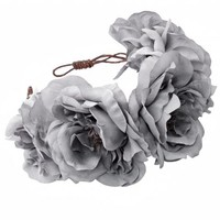 EVELYN Oversized Floral Crown Headband - Rock 'N Rose from ROCK 'N ROSE UK