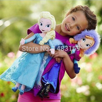 2017 Hot arrival Aliexpress top seller frozene girls baby plush toy dolls 40cm anna elas 30cm olaf 20cm even Christmas gifts