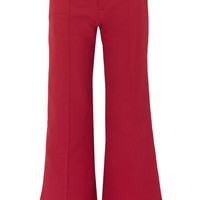 See by Chloé - Cotton-blend twill wide-leg pants