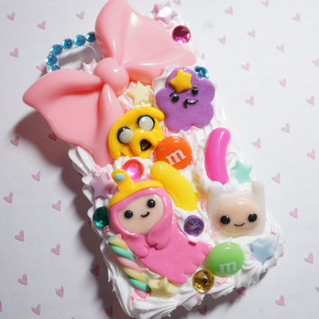 Adventure time decoden case for iphone 4 by madikawaii on Etsy