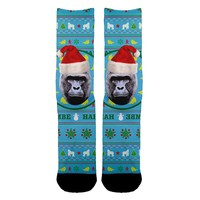 Harambe Tacky Christmas Socks