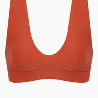 Sven Sleeveless Crop Bikini Top - Burnt Orange