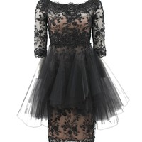 EMBRD LACE/TULLE DTL DRS