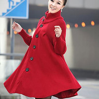 Red Swing Trench Coat Vintage Inspired