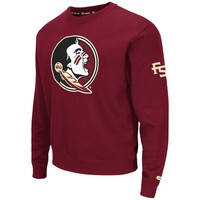 Men's Colosseum Garnet Florida State Seminoles Fleece Pullover Sweatshirt