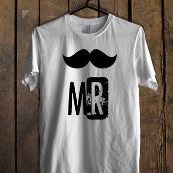 Mr Mustache and Mrs Lips 2 men T Shirt Mens T Shirt and Womens T Shirt *