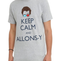 Doctor Who Keep Calm Allons-y T-Shirt