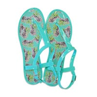 Pineapple Kiss Jelly Sandals