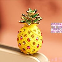 pineapple  dustproof plug for iphone 4 iphone 4s and iphone 5 iphone dust plug