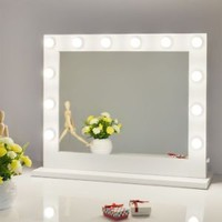 Chende White Hollywood Lighted Makeup Vanity Mirror Light, Makeup Dressing Table