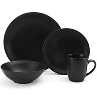 Gourmet Basics by Mikasa® Ridgewood Black Zig Zag 16-pc. Dinnerware Set