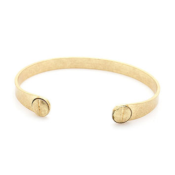Rustic Screw Bangle (G)
