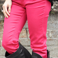 She's Got Good Genes Pants: Hot Pink