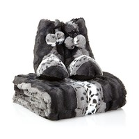 A by Adrienne Landau Faux Fur Throw and Booties at HSN.com