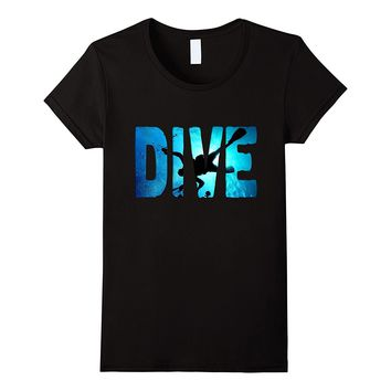 Scuba Diving t-Shirt ~Diver in The Deep Water