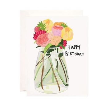 FLOWER VASE BIRTHDAY GREETING CARD