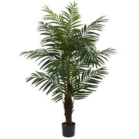 SheilaShrubs.com: 5' Areca Palm Tree 5416 by Nearly Natural : Indoor Garden Decor Silk Trees & Plants