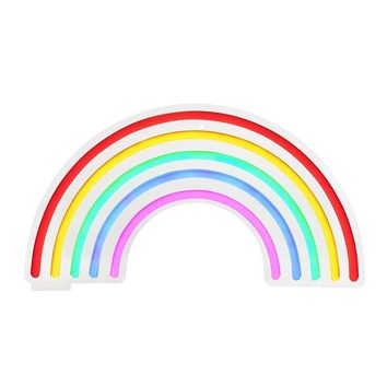 Rainbow Neon LED Wall Large