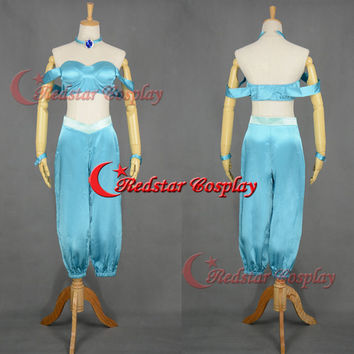 Princess Jasmine cosplay costume dress from Aladdin and the King of Thieves Cosplay A