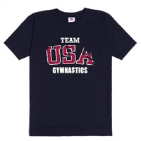 Team USA Gymnastics-Unisex Navy T-Shirt
