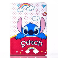 lovely cartoon bear duck stand Leather Flip Case Cover For iPad Mini 4 7.9'' free shipping