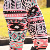Burnin' Brighter Than The Sun Leggings: Multi