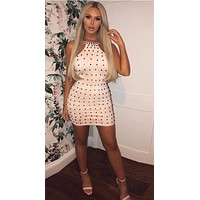 Jaida- Bodycon Beaded Mini Dress