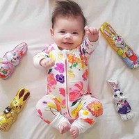 2017 New Baby Coverall Clothes Children's Clothing Newborn Girl Boy Overalls cotton Clothing for Baby  Floral Jumpsuits SR131